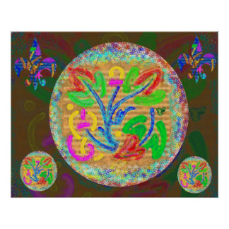Symbolic Life Force - Floral Poster