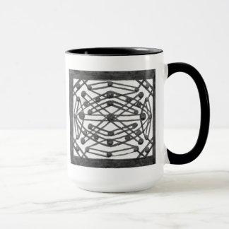 Symmetrical Black & White Design Mug