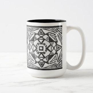 Symmetrical Black & White Two-Toned Mug