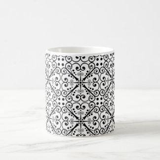 Symmetrical Decorative Design Magic Mug
