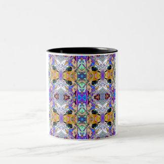 Symmetrical Fantasy Abstract 2 Two-Tone Coffee Mug