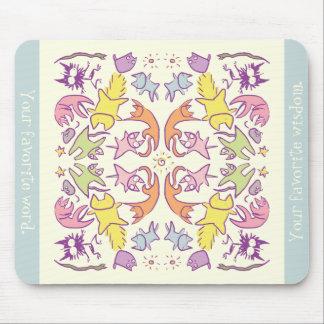Symmetry Pastelcolor Cute Cats Mouse Pad