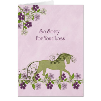 Sympathy Card for Loss of Pet Horse