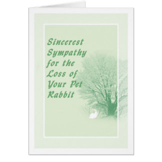 Sympathy Card for Loss of Pet Rabbit