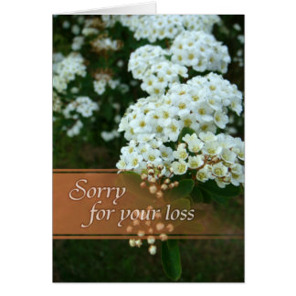 Sympathy card - Sorry for your loss