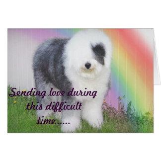 Sympathy - Loss of a pet Card