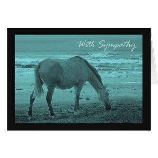 Sympathy, Loss of Pet Horse Card