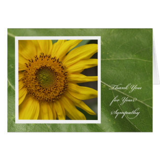 Sympathy Thank You Card -- Sunflower Thank You
