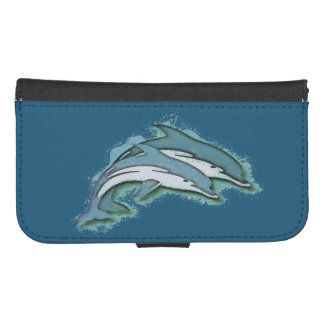 SYNCHRONIZED DOLPHINS SAMSUNG S4 WALLET CASE