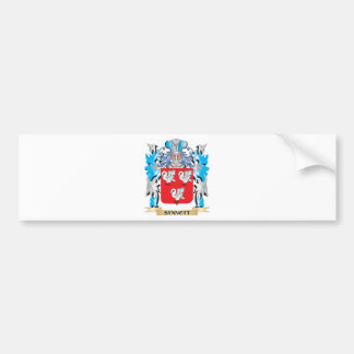 Synnott Coat of Arms - Family Crest Bumper Sticker