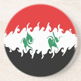 Syria Gnarly Flag Beverage Coasters