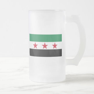 syria opposition 16 oz frosted glass beer mug