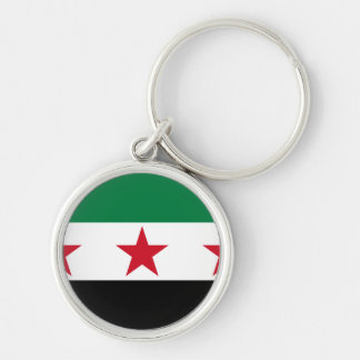 syria opposition Silver-Colored round key ring