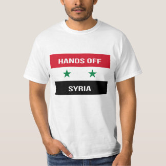 Syrian Flag - Hands Off Syria.  Support for Assad T-Shirt