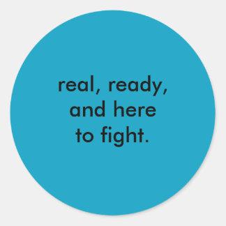 system activism classic round sticker