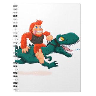 T rex bigfoot-cartoon t rex-cartoon bigfoot notebook