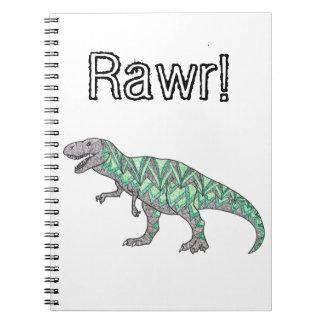T-Rex Dinosaur Doodle Illustrated Art Notebooks