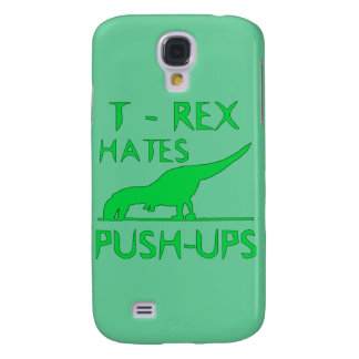 T REX HATES PUSHUPS Funny Dino Design Galaxy S4 Case