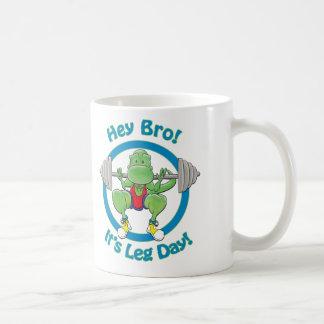 T-Rex. Hey Bro! It's Leg Day! Coffee Mug