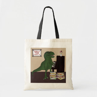 T-Rex Piano Tote Bag