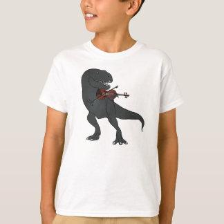 T-Rex Violin Kids Shirt