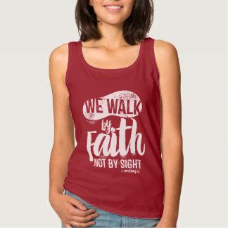 T-shirt  Bible verse We walk by faith