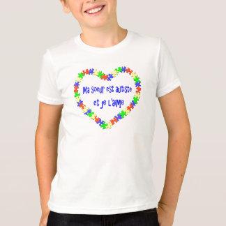 T-shirt Ma soeur est autiste et je l'aime