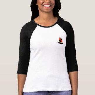 T-shirt Mangos Raglan 3/4 (Acinturado), White