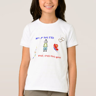 T-shirt Moi je suis TED blanc