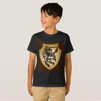 T-shirt Short Boy Black  sleeves Boy horse