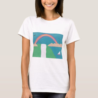 T-Shirt with a Rainbow Design