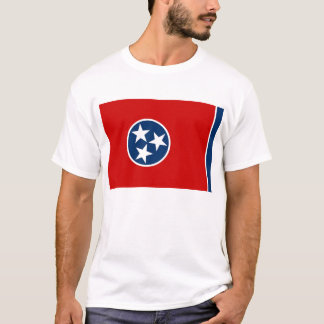 T Shirt with Flag of Tennessee State USA