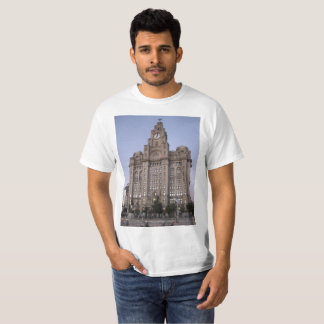 T-shirt with Liver Building images (Liverpool)