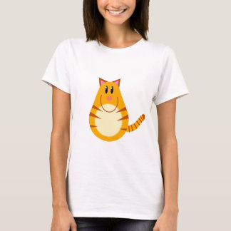Tabby Cat Cartoon T-Shirt