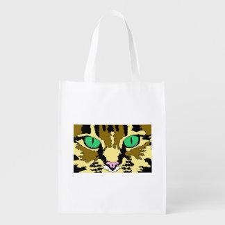 Tabby Cat Reusable Grocery Bag