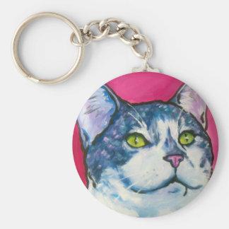Tabby Kitty Key Ring