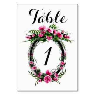 """TABLE CARD W FLOWER 3.5"""" x 5"""" BASIC"""