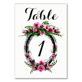 """TABLE CARD W FLOWER 3.5"""" x 5"""" Ultra-Thick Paper"""
