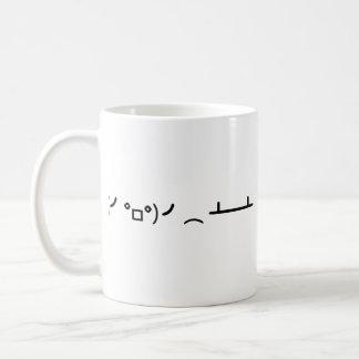 Table Flip Flipping Ascii Emoticon Coffee Mug