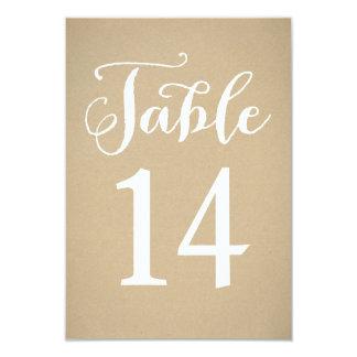 Table Number Card | Kraft Brown 9 Cm X 13 Cm Invitation Card