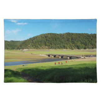 Table set Edersee old bridge Asel Placemat