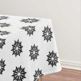 "Tablecloth ""60x84"" Black Floral"