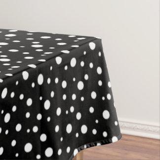 "Tablecloth ""60x84"" Black & White Polka Dots"