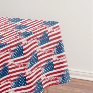 "Tablecloth ""60x84"" July 4th Patriotic USA Flag"