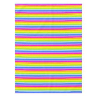 Tablecloth rainbow stripes pink
