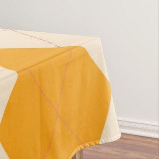Tablecloth spring  Yellow  retro argyle