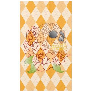 Tablecloth spring  Yellow  retro argyle skull