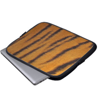 Tablet & Laptop Sleeve - Tiger Fur - Orange