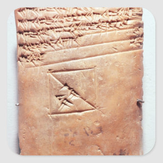 Tablet with cuneiform script, c.1830-1530 BC Square Sticker
