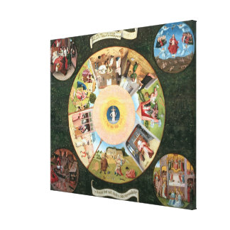 Tabletop of the Seven Deadly Sins Stretched Canvas Print